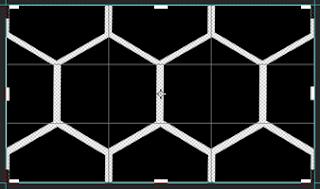 create pattern honeycomb