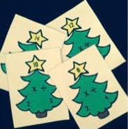 Christmas Tree Multiplication and DivisionFact Family Flashcards