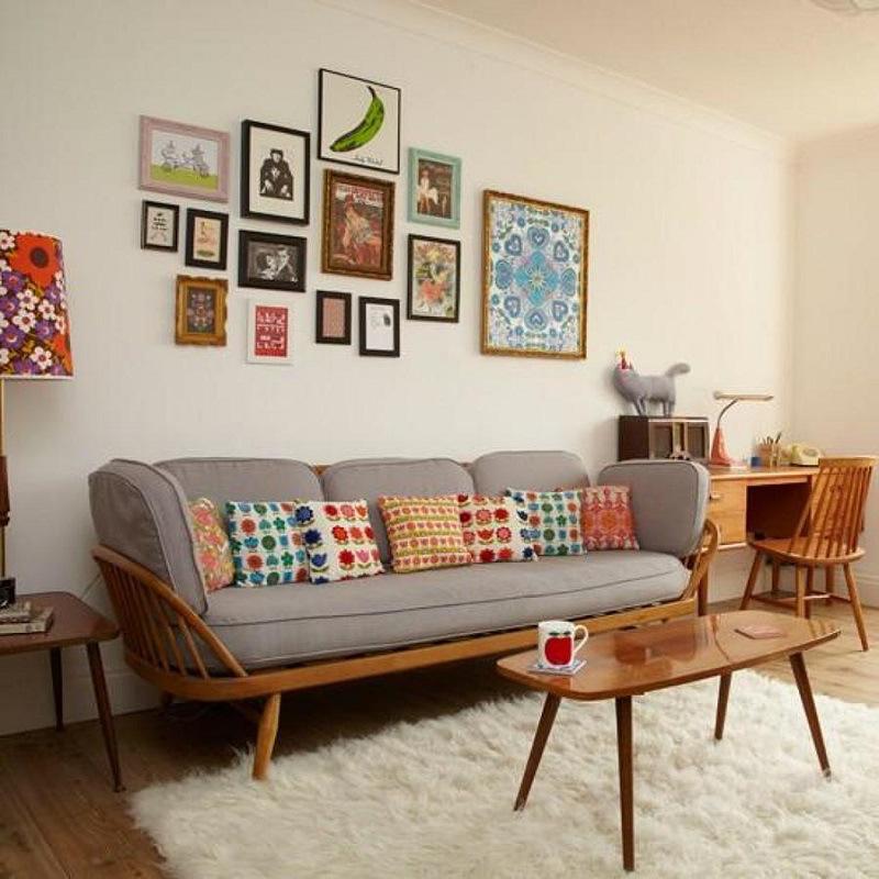 Desain Ruang Tamu Retro Dapat Dengan Mudah Dikombinasikan Jenis Lain Dari A Dan Kombinasi Yg Tampak Luar Biasa Jika Sobat Menganggap Diri
