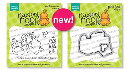 Newton's Seashell Stamp Set & Die Set by Newton's Nook Designs #newtonsnook