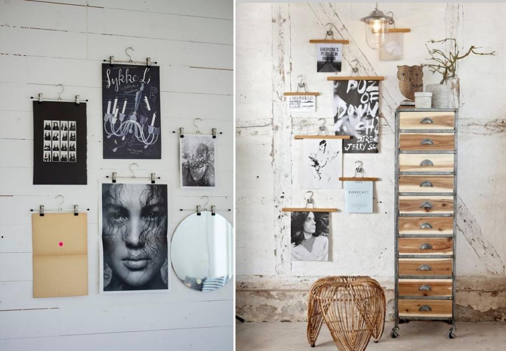Neuer Interior Trend: So werden Bilder jetzt an die Wand gehängt!