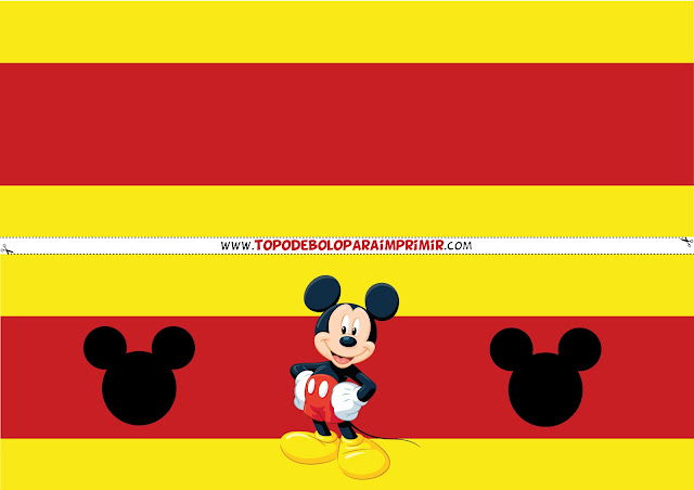 faixa lateral para bolo mickey mouse