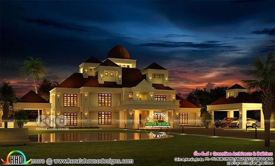 Luxury 6 bedroom Colonial style home in Kerala