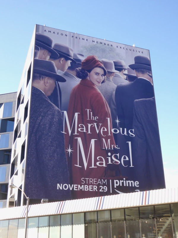 giant Marvelous Mrs Maisel billboard