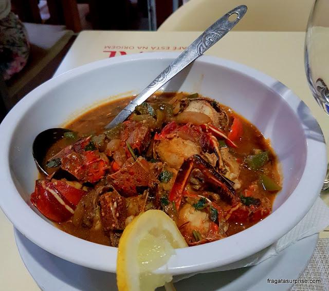 Lagosta suada, prato típico de Cabo Verde