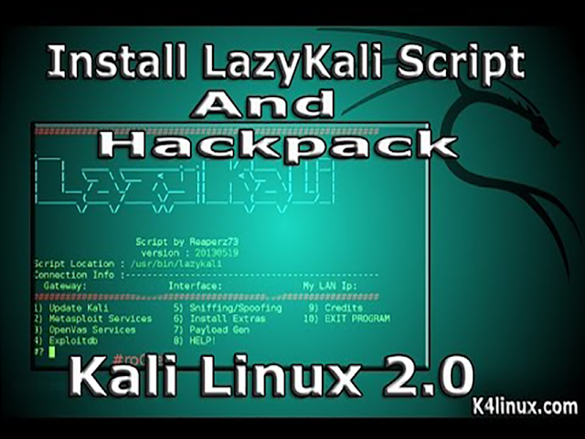 kali linux 2.0 tutorials lazykali hackpack