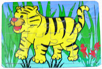 Puzzle binatang little tiger