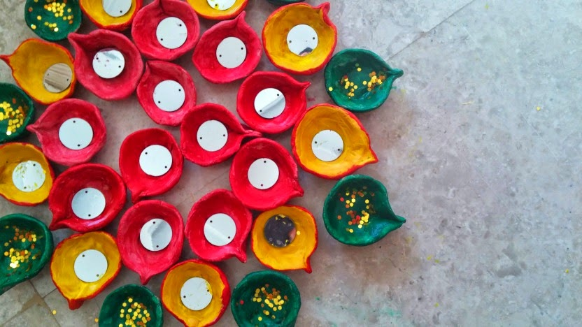 A Creative Project: How to make clay/terracotta diyas or ...