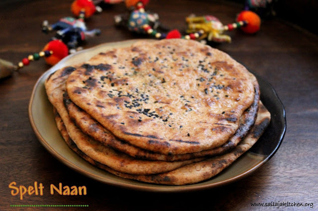 images of Spelt Naan / Spelt Flour Naan / Naan On Stove Top - Indian Flat Bread Recipe