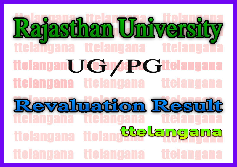 Rajasthan University UG PG Revaluation Result