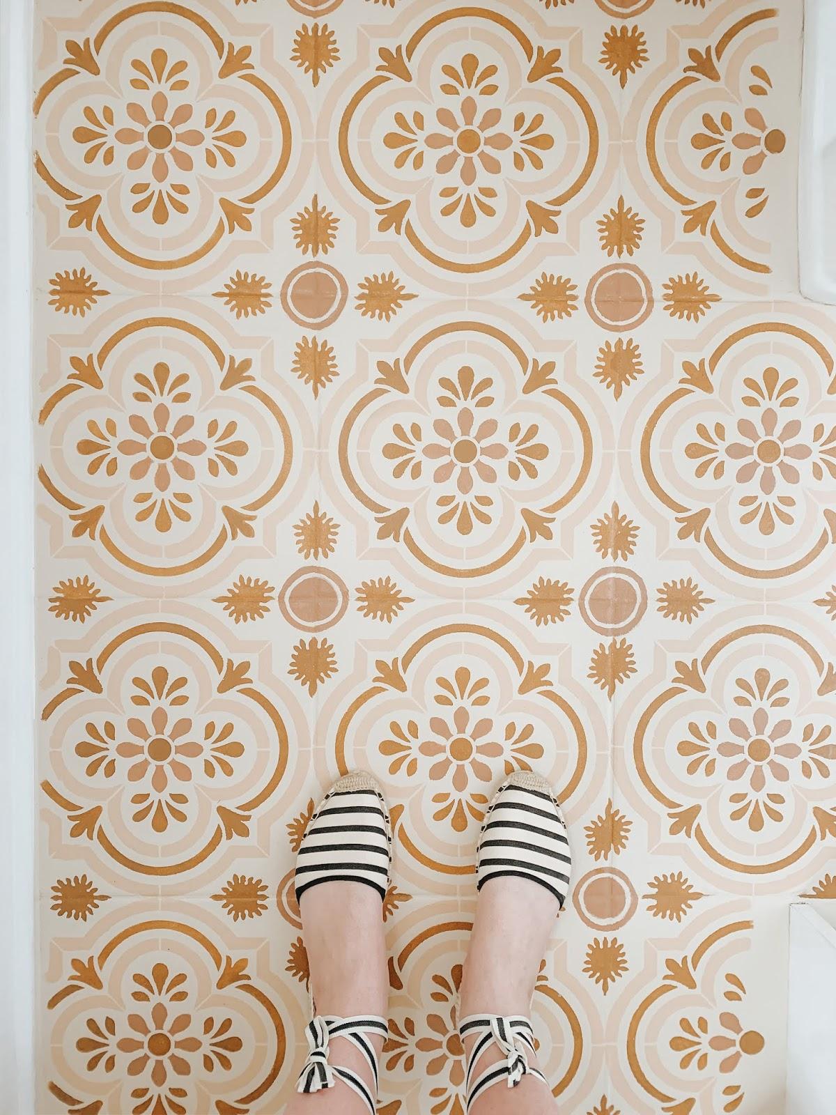 stenciling my bathroom floor