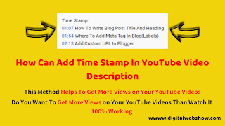 How To Add Time Stamp In YouTube Video Description