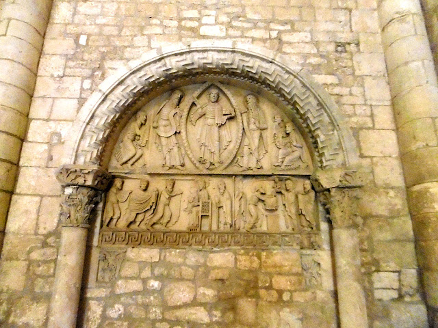 The Transfiguration Tympanum at the front of the Abbey Church, La Charité sur Loire, Nievre, France. Photo by Loire Valley Time Travel.