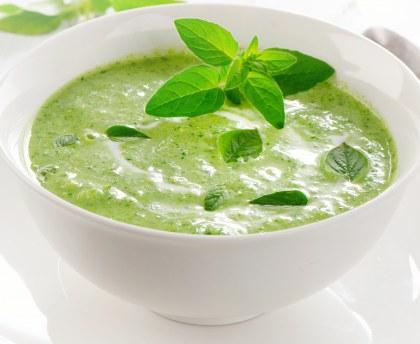 Delicious basil soup