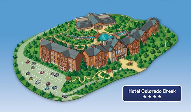 Hotel Colorado Creek mapa