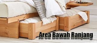 Manfaatkan Area Bawah Ranjang untuk Menyimpan Barang