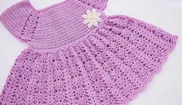 Tutorial Hermoso Vestido de Verano de Bebé a Crochet