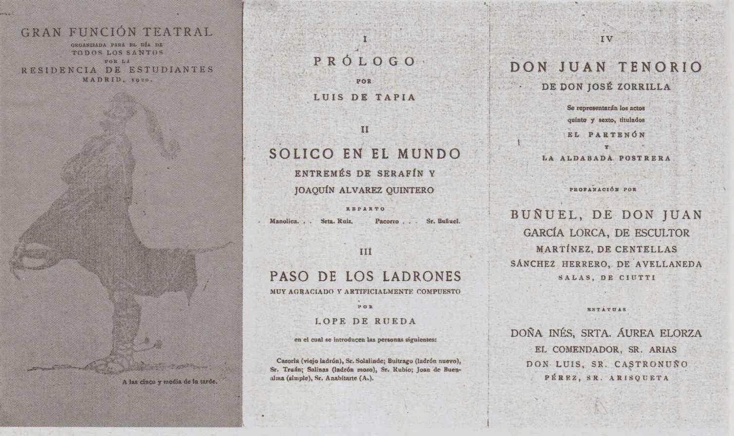 Luis Buñuel y Don Juan Tenorio