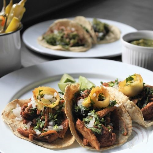 Lime pickle tacos
