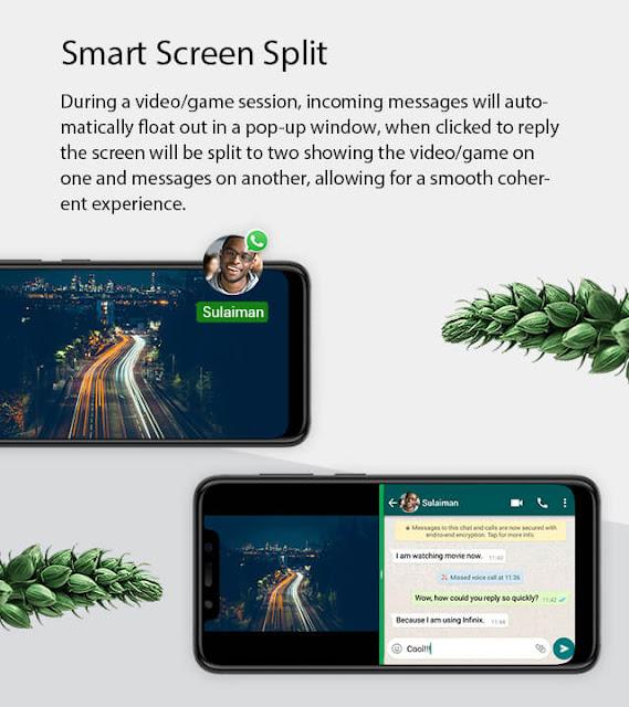 XOS 4.0 Infinix smart spit screen feature