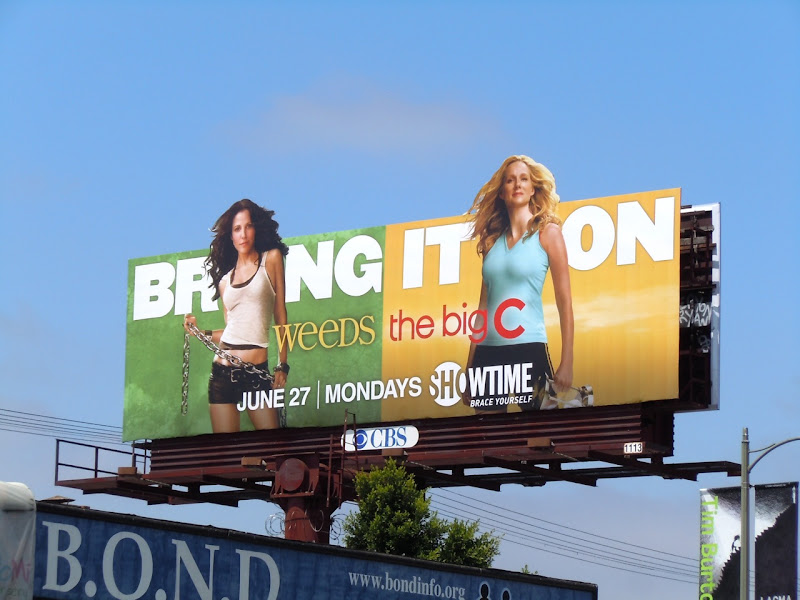 Weeds The Big C TV billboard