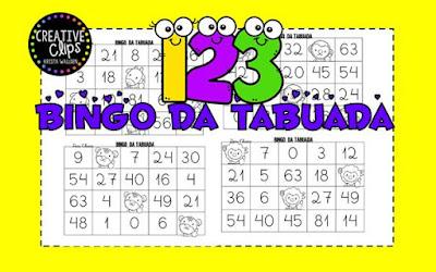 Atividades de Matemática, Bingo de tabuada, jogos pedagógicos, Bingos,