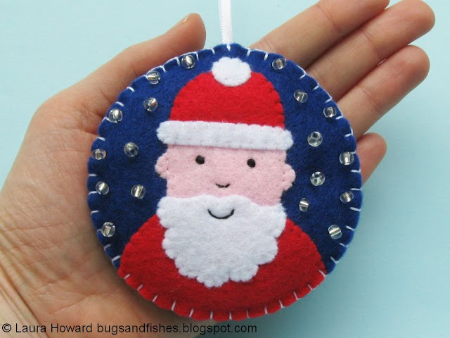 felt Father Christmas ornament
