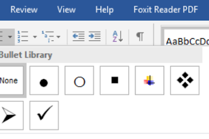 Penggunaan Bullets and Numbering di Microsoft Word