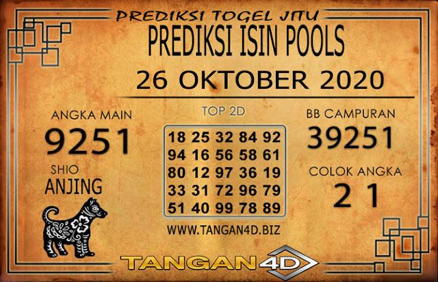PREDIKSI TOGEL ISIN TANGAN4D 26 OKTOBER 2020