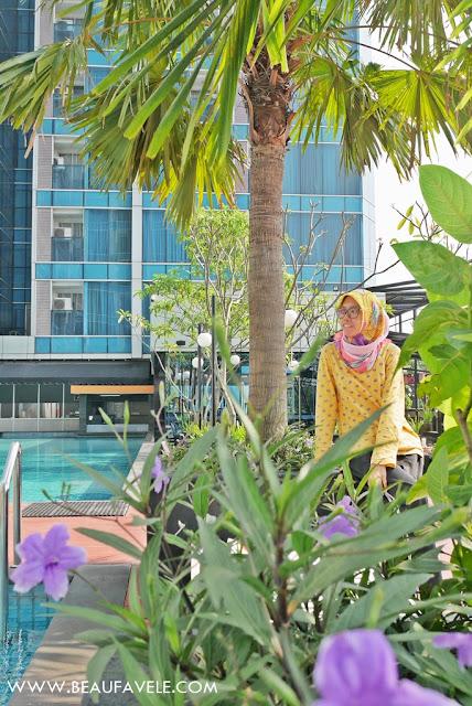 Area hijau di Best Western Premier The Hive Hotel Jakarta