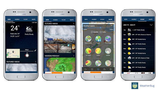 Weatherbug, best weather app for Android
