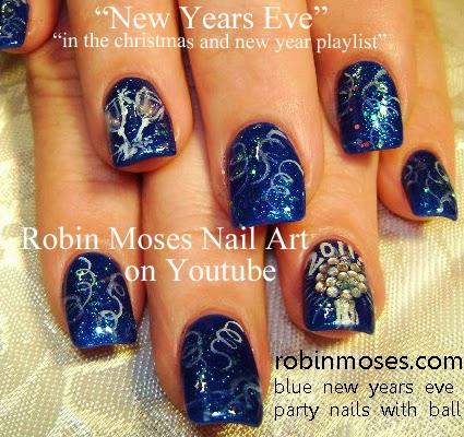 Nail Art By Robin Moses Nail Art New Years Nye Nail Art New