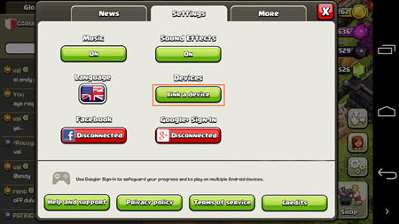 Cara Sign in COC