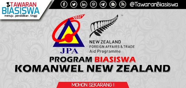 Permohonan Biasiswa Komanwel New Zealand 2020