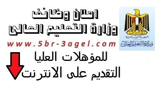 اعلان وزارة التعليم العالى للمؤهلات العليا والتقديم على الانترنت - منشور اليوم بجريدة الاهرام