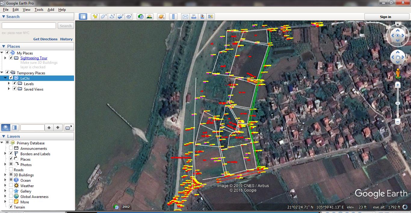 Hướng dẫn chuyển bản vẽ lên Google Earth bằng MicroSation V8i - Đưa bản vẽ MicroSation, AutoCad, MapInfo lên Google Earth bằng phần mềm Global Mapper