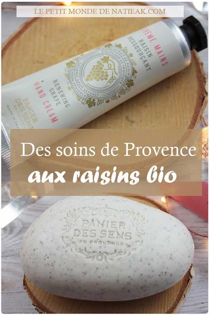 Savon exfoliant et crème mains de Panier des sens : le Raisin ressourçant  s'invite dans la nouvelle collection