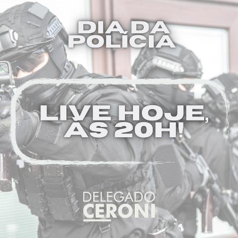 Parabéns a todos os policiais pelo Dia da Polícia, comemorado hoje, dia 21 de abril.