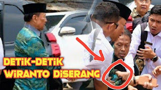 Video Detik-detik Wiranto Dierang Pria Menggunakan Pisau