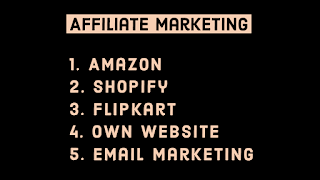 Earning by Affiliate marketing