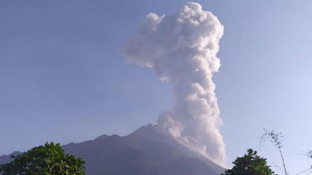 Gunung Merapi Kembali Erupsi Pagi ini pukul 05:21 WIB