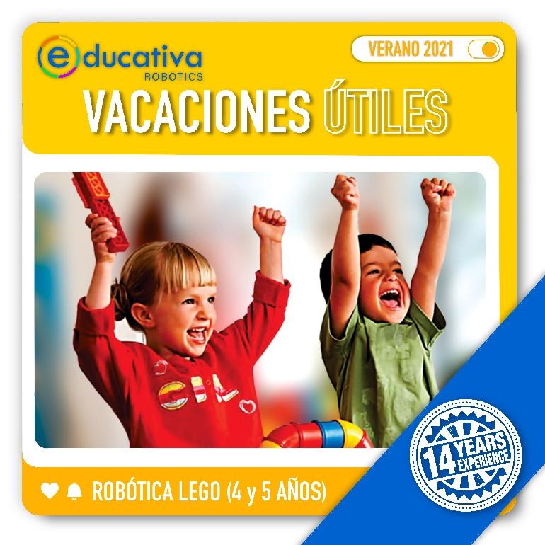 Vacaciones Útiles Verano 2021 | Robótica Para Niños y Niñas de 4 y 5 años