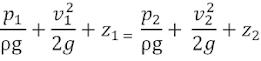 Persamaan Bernoulli Untuk Venturimeter