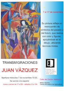 Invitación Exposición Juan Vázquez.