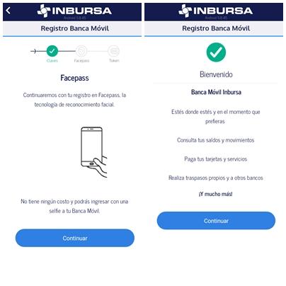 Registro Facepass Inbursa móvil