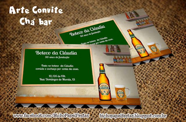 Convite Boteco Chá Bar