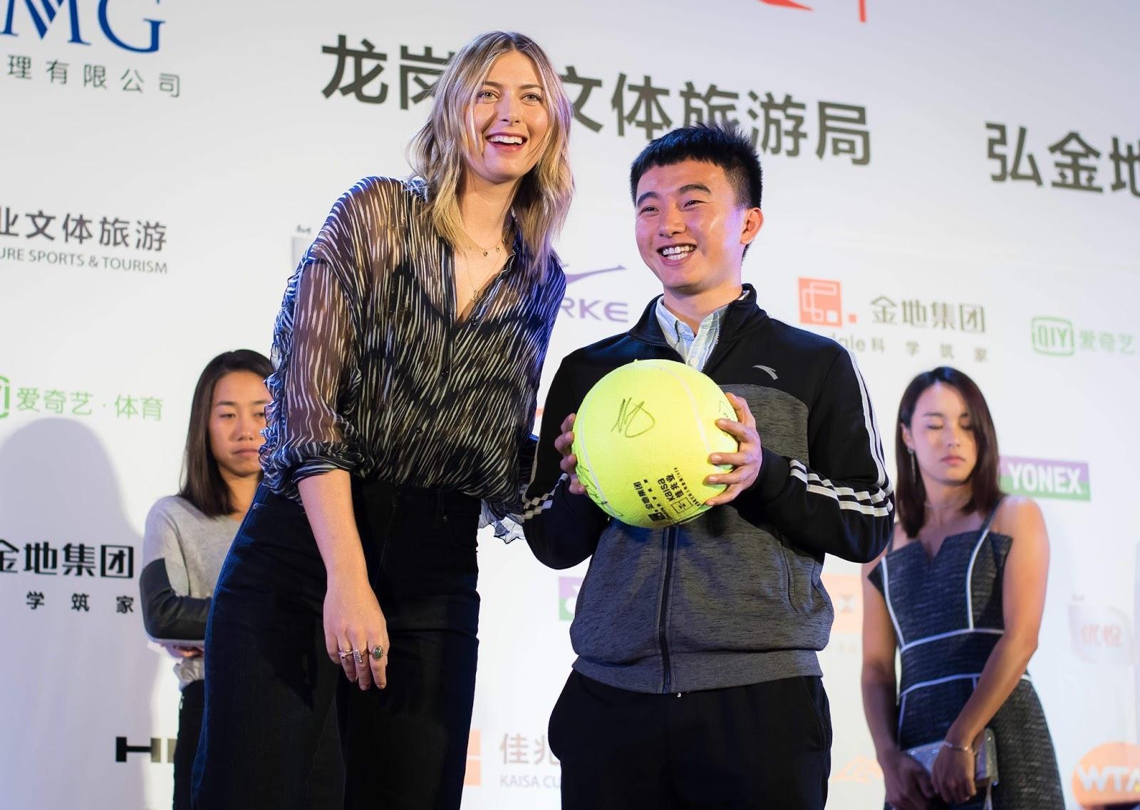 Maria Sharapova at the party of the 2018 Shenzhen Open