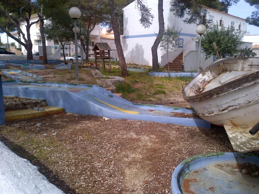 Minigolf at Restaurante Vista Alegre in Porto Cristo, Mallorca