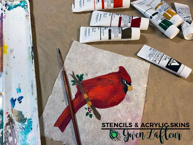 Stencils & Acrylic Skins Tutorial - Step 9 - Gwen Lafleur