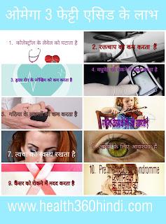 Health Benefits of Omega 3 Fatty acid in Hindi